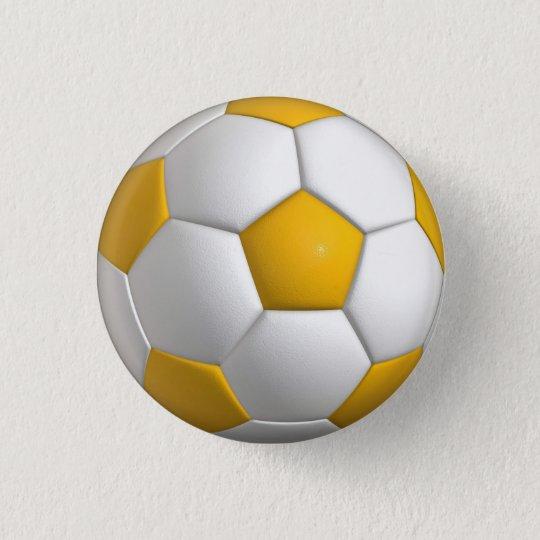 Bóton Redondo 2.54cm Pino da bola de futebol (futebol) botão - ouro ... 22d1e789b1b0e