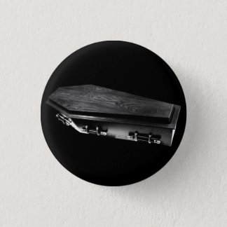 Bóton Redondo 2.54cm Pino gótico do botão do gótico do caixão