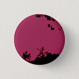 Bóton Redondo 2.54cm Pino preto cor-de-rosa do botão