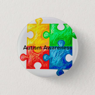 Bóton Redondo 2.54cm Pinos da consciência do autismo