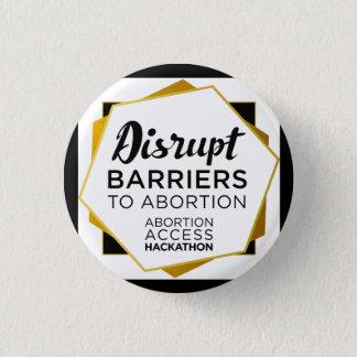 Bóton Redondo 2.54cm Pinos de Hackathon do acesso do aborto