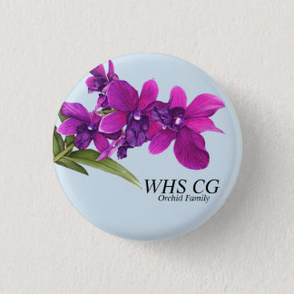 Bóton Redondo 2.54cm Pinos do CG da família de orquídea