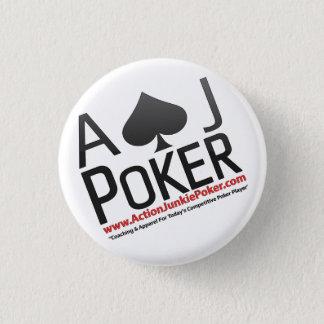 Bóton Redondo 2.54cm Pinos do póquer do toxicómano da ação