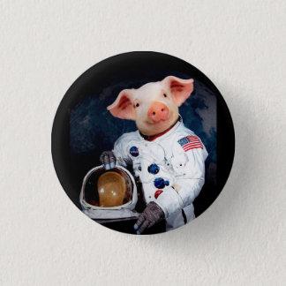 Bóton Redondo 2.54cm Porco do astronauta - astronauta do espaço