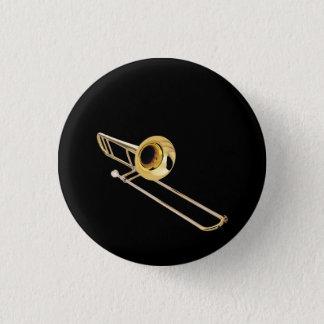 """Bóton Redondo 2.54cm Presentes e produtos do design do """"Trombone"""""""