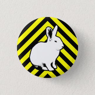 Bóton Redondo 2.54cm Preto de BunnyLuv, amarelo e botão do coelho
