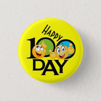 Bóton Redondo 2.54cm Professor botão de 100 dias - SRF