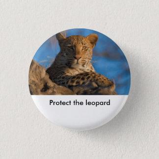 Bóton Redondo 2.54cm Proteja o leopardo
