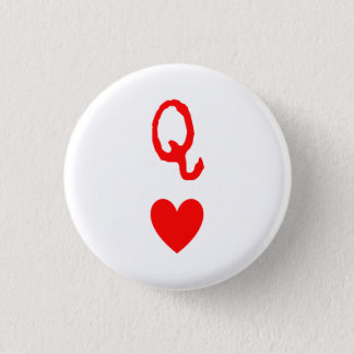 Bóton Redondo 2.54cm Rainha do botão dos corações