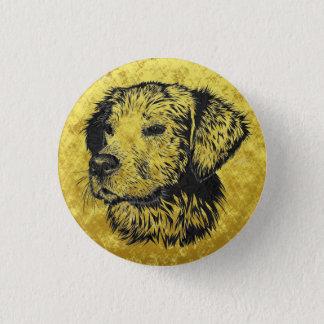Bóton Redondo 2.54cm Retrato do filhote de cachorro do golden retriever