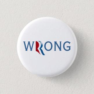 Bóton Redondo 2.54cm Romney Ryan 2012 - botão errado
