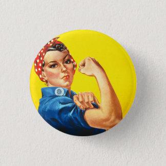 Bóton Redondo 2.54cm Rosie o botão do rebitador
