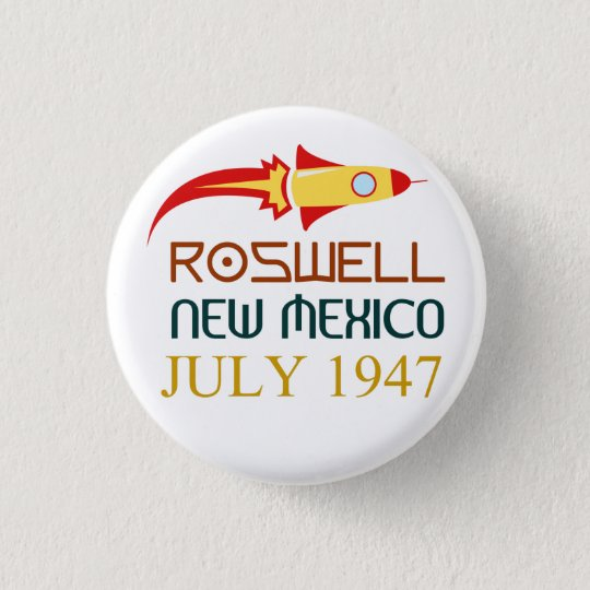 Bóton Redondo 2.54cm Roswell,New Mexico,july 1947