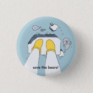 """Bóton Redondo 2.54cm """"Salvar os ursos!"""" botão"""