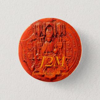 Bóton Redondo 2.54cm selo medieval, J2M, Jean-Marie Moyer