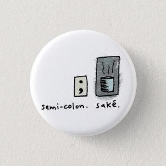 Bóton Redondo 2.54cm semicolon + causa