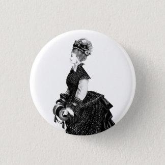Bóton Redondo 2.54cm Senhora do Victorian com crachá da azáfama