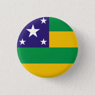 Bóton Redondo 2.54cm Sergipe, botão brasileiro da bandeira do estado