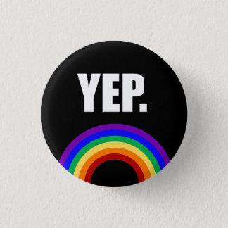 """Bóton Redondo 2.54cm """"Sim"""" botão engraçado do Pin-para trás da bandeira"""