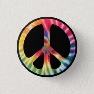 Bóton Redondo 2.54cm Símbolo de paz tradicional dos anos sessenta com