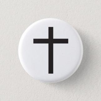 Bóton Redondo 2.54cm Símbolo religioso da cruz Latin
