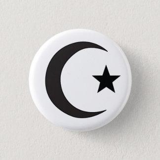 Bóton Redondo 2.54cm Símbolo religioso do Islão