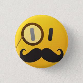 Bóton Redondo 2.54cm Smiley face com bigode