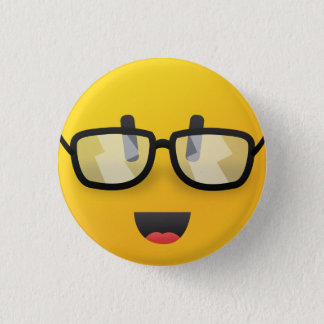 Bóton Redondo 2.54cm Smiley face com pino dos vidros