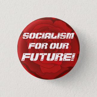 """Bóton Redondo 2.54cm """"Socialismo para nosso futuro!"""" Botão"""
