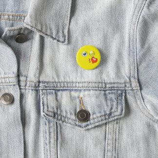 Bóton Redondo 2.54cm Sopro bonito um beijo Emoji