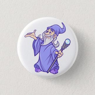 Bóton Redondo 2.54cm Sorceress roxo mágico do mágico do feiticeiro