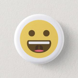 Bóton Redondo 2.54cm Sorrindo a cara Emoji