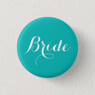 Bóton Redondo 2.54cm Tema do azul do Pin | Tiffany da noiva