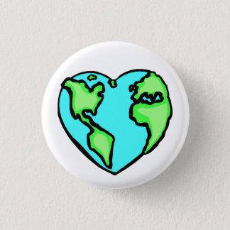 Bóton Redondo 2.54cm Terra do coração