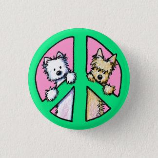 Bóton Redondo 2.54cm Terrier para a paz