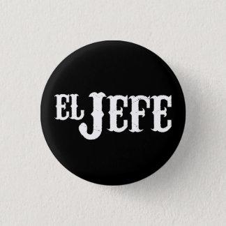 Bóton Redondo 2.54cm Tradução do EL Jefe o chefe