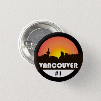 Bóton Redondo 2.54cm Um botão com uma silhueta da skyline de Vancôver