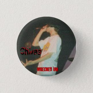 Bóton Redondo 2.54cm 'Um botão destruído de CHIVAS
