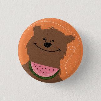 Bóton Redondo 2.54cm Urso com melancia