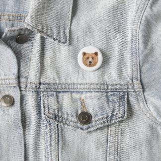 Bóton Redondo 2.54cm Urso de Brown, pino, botão, botão da floresta