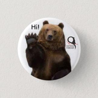 Bóton Redondo 2.54cm urso de urso olá!