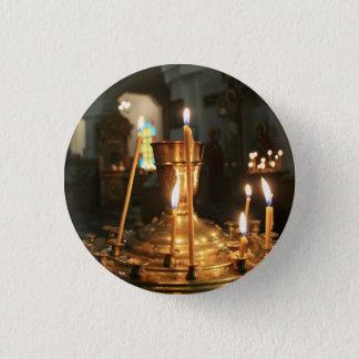 Bóton Redondo 2.54cm Velas votivas no botão de Kazakhstan