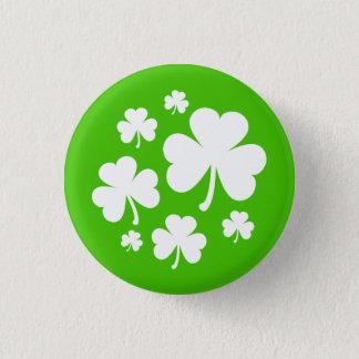 Bóton Redondo 2.54cm Verde-claro com orgulho branco do irlandês dos