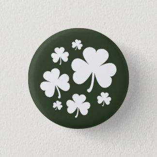 Bóton Redondo 2.54cm Verde de caçador com orgulho branco do irlandês