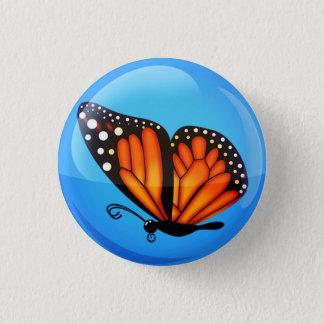 Bóton Redondo 2.54cm Vôo em um dia claro - botão do monarca