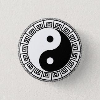 Bóton Redondo 2.54cm Yin Yang pequeno, 1 botão redondo da polegada do ¼