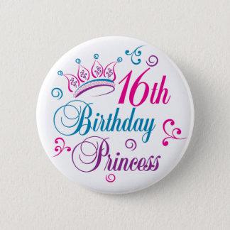 Bóton Redondo 5.08cm 16o Princesa do aniversário