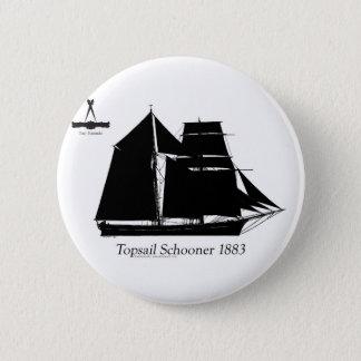 Bóton Redondo 5.08cm 1883 escuna do topsail - fernandes tony