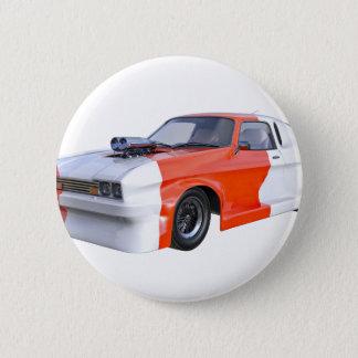 Bóton Redondo 5.08cm 2016 carro alaranjado e branco do músculo
