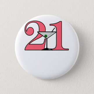 """Bóton Redondo 5.08cm """"21"""" design de Martini"""